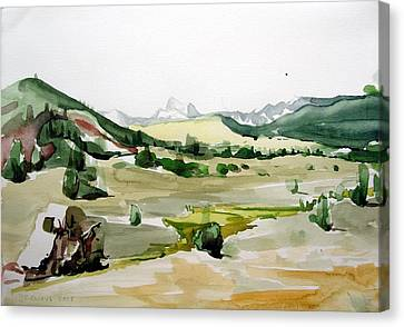 Kennedy Meadows The Dome Lands Canvas Print by Amy Bernays