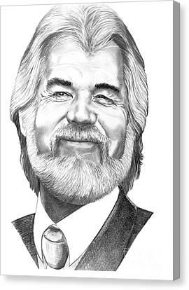 Kenny Rogers Canvas Print by Murphy Elliott