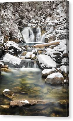 Kent Falls Cascade 2016 Canvas Print by Bill Wakeley