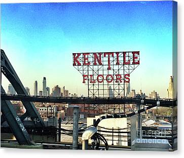Kentile Floors Canvas Print by Onedayoneimage Photography
