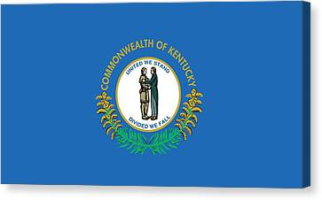 Kentucky State Flag Canvas Print by American School