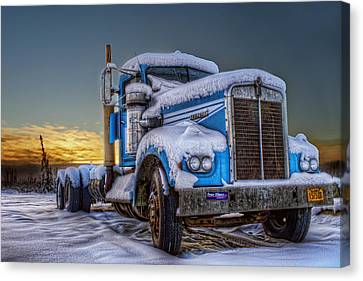 Kenworth Waiting For Summer Canvas Print by Thomas Payer