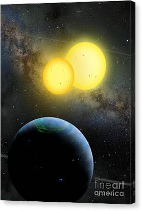 Kepler-35 Canvas Print by Lynette Cook