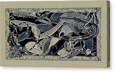 Kettle Of Fish, Too Canvas Print by Judy Bales