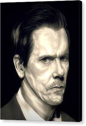 Kevin Bacon - The Following Canvas Print by Fred Larucci