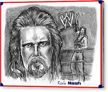 Kevin Nash Outsider Canvas Print by Chris  DelVecchio