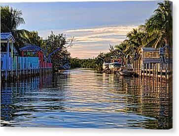 Key Largo Canal Canvas Print by Chris Thaxter