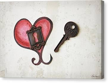 Key To My Heart Canvas Print by Diana Haronis