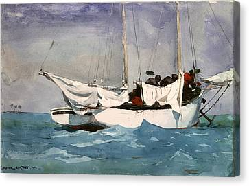 Key West Hauling Canvas Print by Winslow Homer