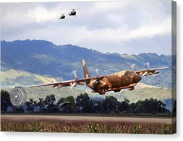 Khe Sanh Lapes C-130a Canvas Print by Peter Chilelli