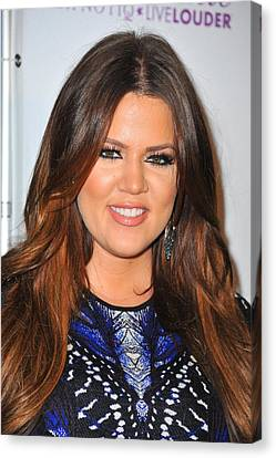 Khloe Kardashian In Attendance Canvas Print by Everett