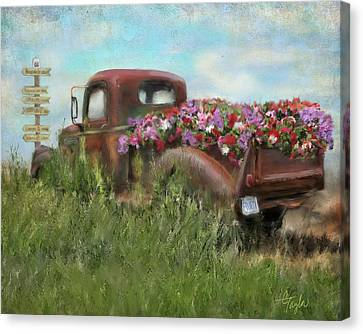 Kicks On Route 66 Canvas Print by Colleen Taylor