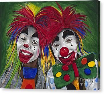 Kid Clowns Canvas Print by Patty Vicknair