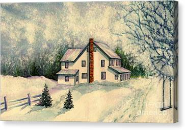 Kids Are Home Canvas Print by Janine Riley