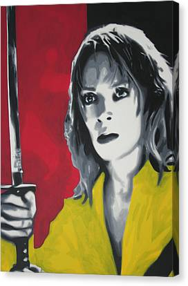 Kill Bill 2013 Canvas Print by Luis Ludzska