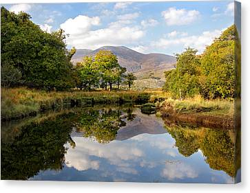 Killarney Lake Reflection Ireland Canvas Print by Pierre Leclerc Photography