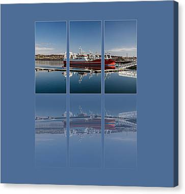 Killybegs Harbour Triptych Canvas Print by Martina Fagan