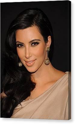 Kim Kardashian In Attendance Canvas Print by Everett