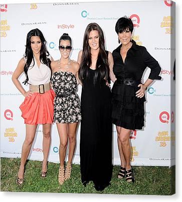 Kim Kardashian, Kourtney Kardashian Canvas Print by Everett