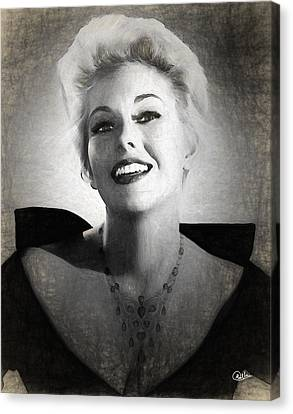 Kim Novak Actress Canvas Print by Quim Abella