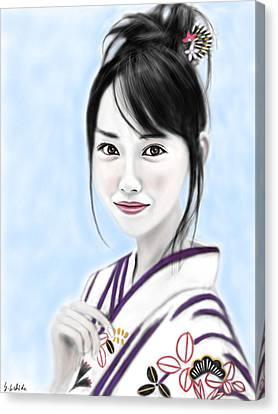 Kimono Girl No.10 Canvas Print by Yoshiyuki Uchida