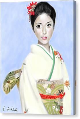 Kimono Girl No.2 Canvas Print by Yoshiyuki Uchida