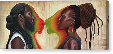 King And Queen Canvas Print by Kavion Robinson