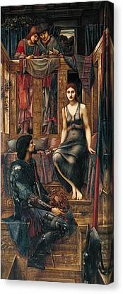King Cophetua And The Beggar Maid Canvas Print by Edward Burne-Jones