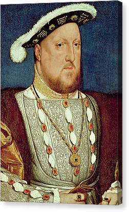 King Henry Viii  Canvas Print by Hans Holbein