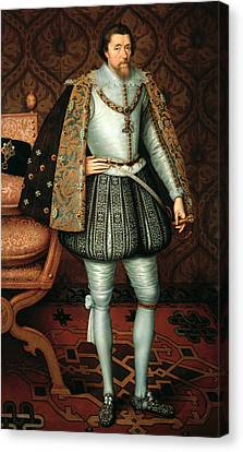 King James I Canvas Print by Paul van Somer