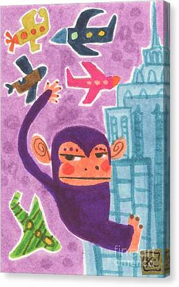 King Kong Canvas Print by Kate Cosgrove