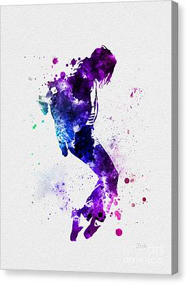 King Of Pop Canvas Print by Rebecca Jenkins