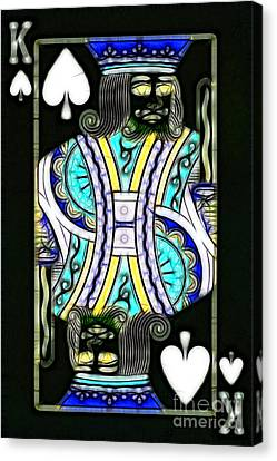 King Of Spades - V2 Canvas Print by Wingsdomain Art and Photography