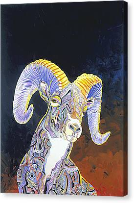 King Of The Mountain Canvas Print by Bob Coonts