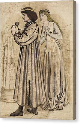 King Rene's Honeymoon Canvas Print by Edward Burne-Jones