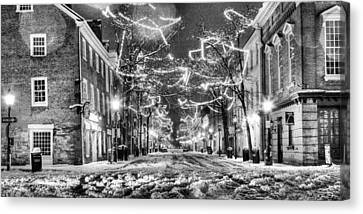 King Street In Black And White Canvas Print by JC Findley