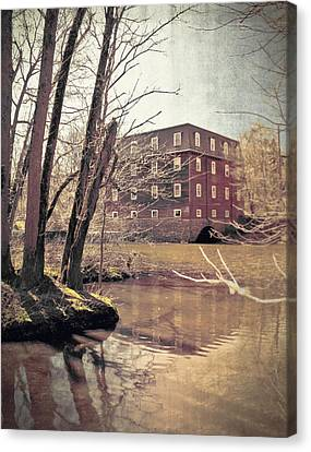 Kingston Mill Across The River Canvas Print by Colleen Kammerer