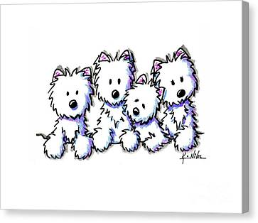 Kiniart Pocket Pawsse Canvas Print by Kim Niles