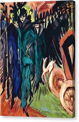 Kirchner: Street Scene Canvas Print by Granger
