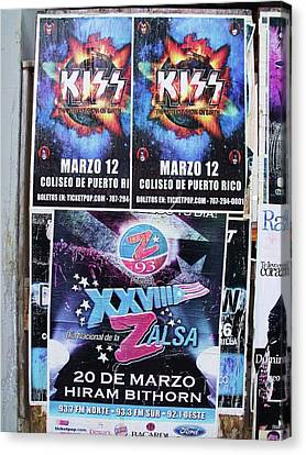Kiss Concert San Juan Canvas Print by Anna Villarreal Garbis