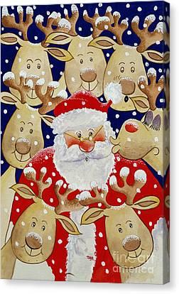 Kiss For Santa Canvas Print by Tony Todd