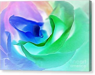 Kiss From A Rose Canvas Print by Krissy Katsimbras