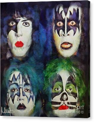 Kiss Canvas Print by Melanie D
