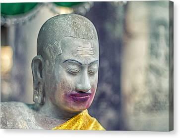 Kissing Buddha Angkor Wat  Canvas Print by Stelios Kleanthous