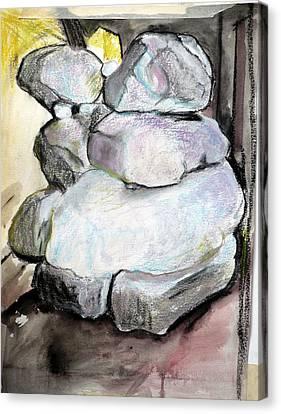 Kissing Rocks Canvas Print by Jane Clatworthy
