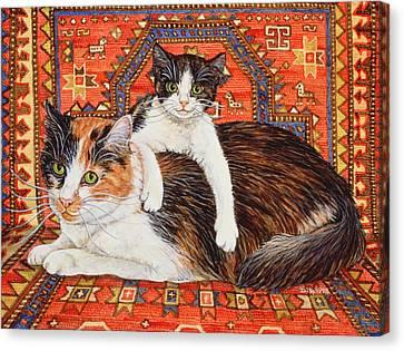 Kit Cat Carpet Canvas Print by Ditz