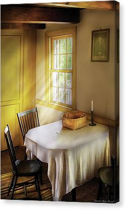 Kitchen - The Empty Basket Canvas Print by Mike Savad