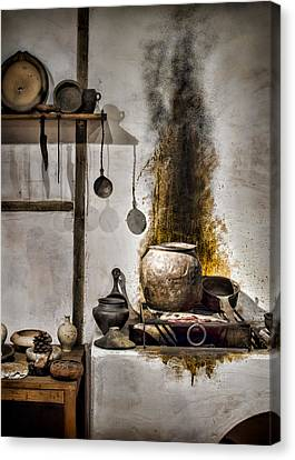 Kitchen Of The Past Canvas Print by Heather Applegate
