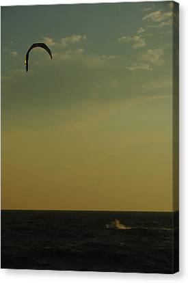 Kite Surfer Canvas Print by Juergen Roth