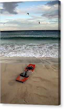 Kitesurfing Canvas Print by Stelios Kleanthous